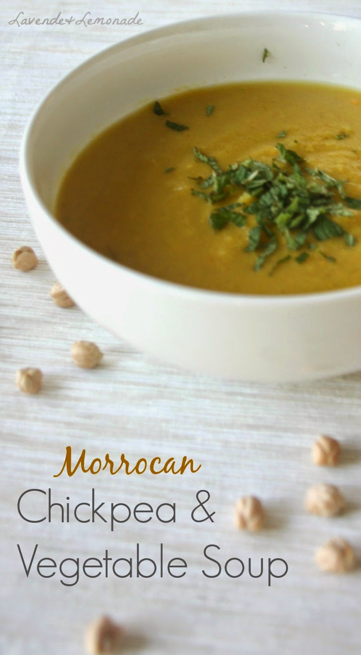 Healthy, simple, delicious all-year round! Moroccan Chickpea and Vegetable Soup