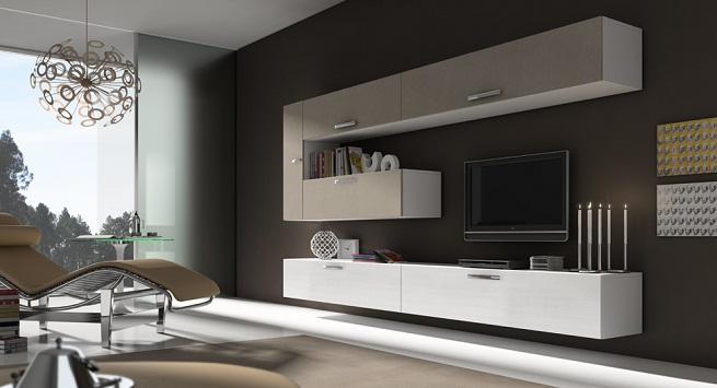 Home decorating ideas decorate a minimalist room - Muebles modernos para tv ...
