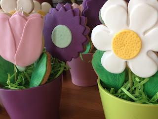 galletas fondant; galletas decoradas; galletas mantequilla; regalo; cumpleaños; azucar; macetero; macetas;
