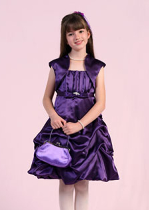 purple junior bridesmaid dress