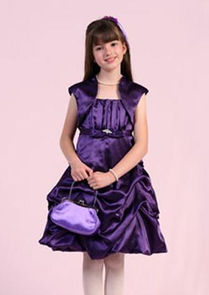 purple junior bridesmaid dress