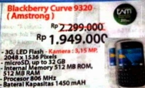 Harga Blackberry Curve 9320 (Amstrong)