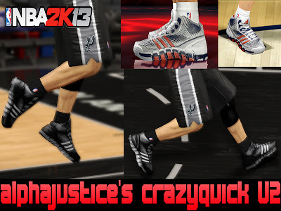 NBA 2K13 Adidas 'Crazy Quick' Shoes Mod