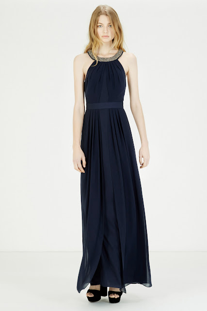 navy halter neck maxi dress, sequin neck blue maxi dress,