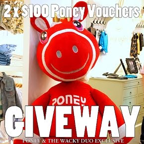 Poney $100 Vouchers Giveaway