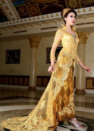 Model Kebaya 2015 Desain Modern Terbaru Warna Gold Emas