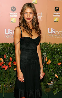 Jessica Alba long curly hairstyles