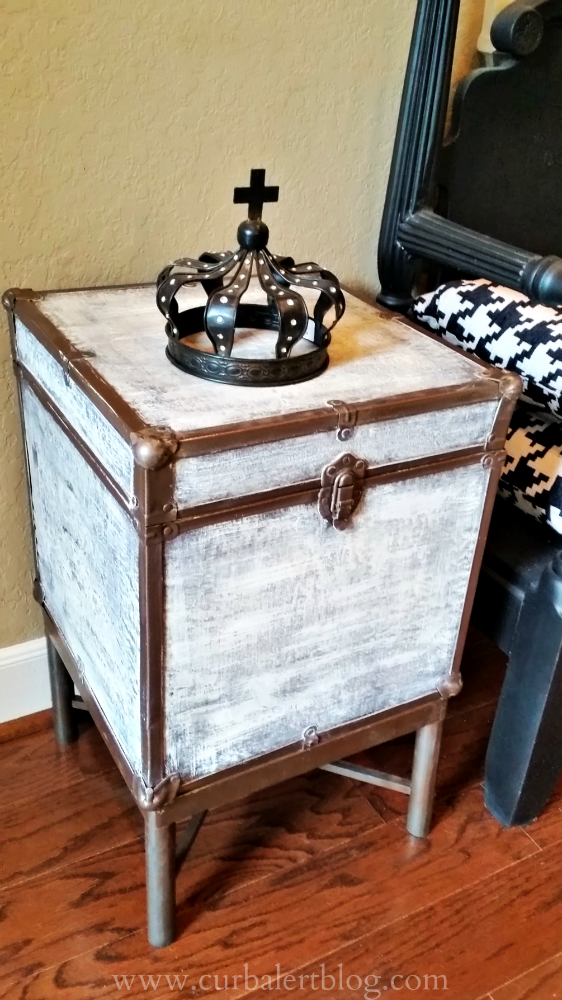 Curb Alert Pottery Barn Inspired Trunk Side Table - Pottery barn trunk end table