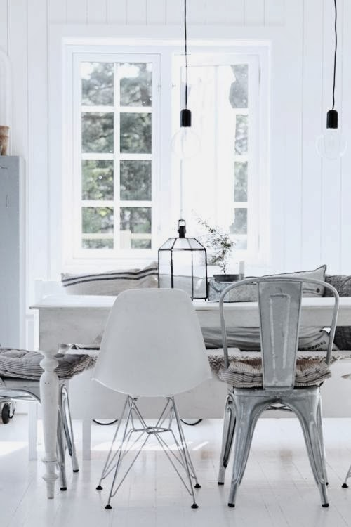 espacios en color blanco decoración