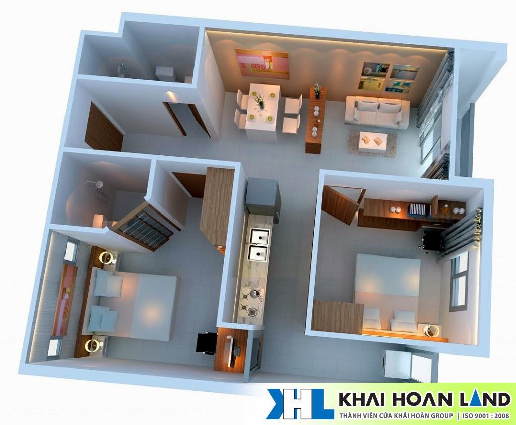 Hình ảnh nội thất căn hộ Ehome 5 -  83m2
