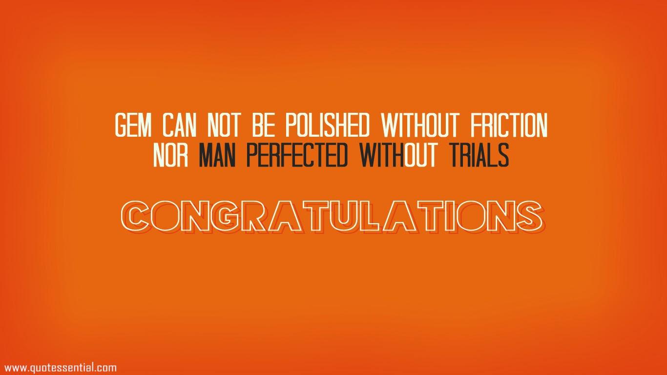 congratulate on
