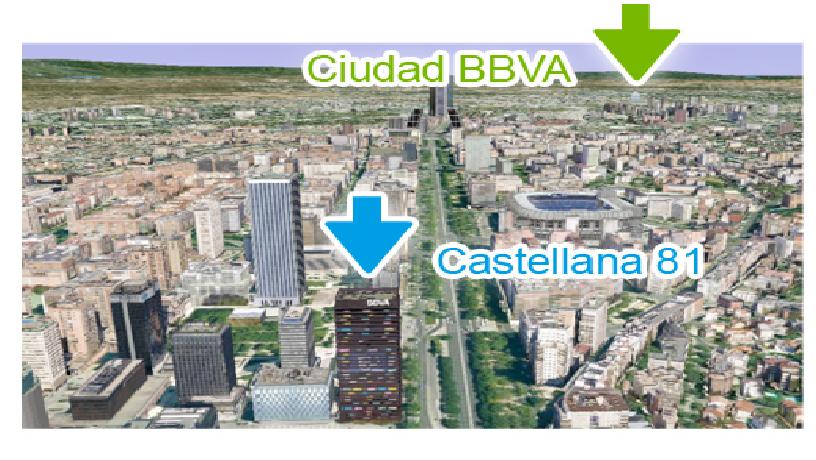 Localización sede BBVA