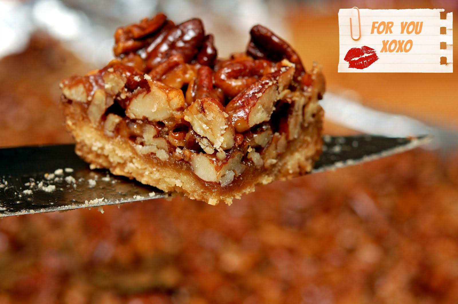 PECAN PIE SHORTBREAD BARS - Hugs and Cookies XOXO