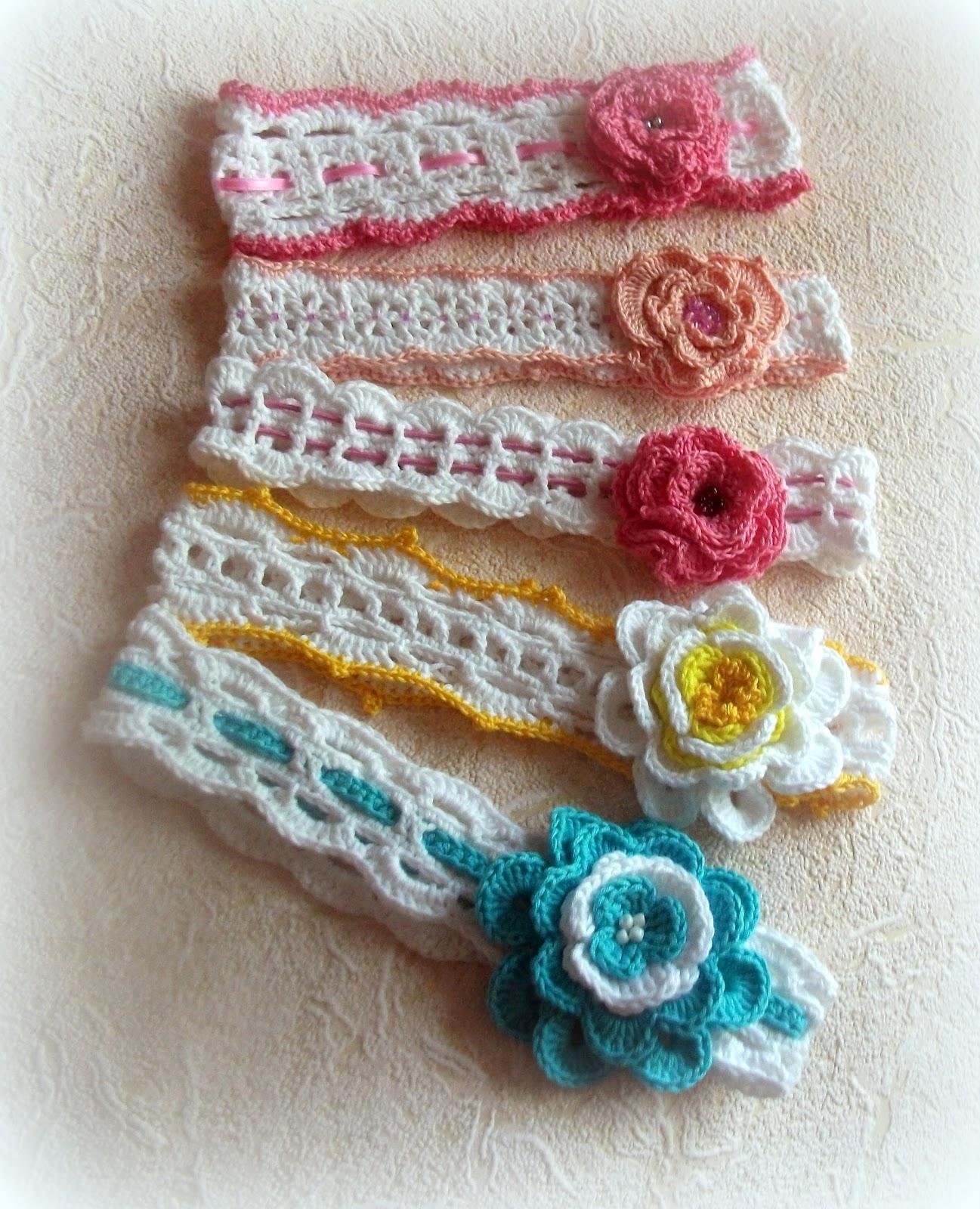 Повязки девочкам на голову вязание крючком