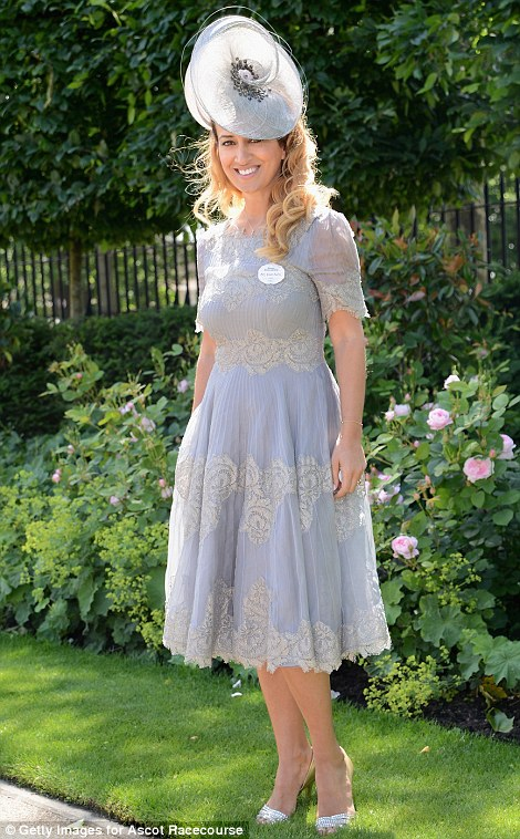 Nazer Bullen is pretty in lilac lace dress and matching hat on day 1 at Royal Ascot 2014