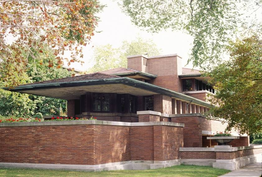 Interesting Modern Architecture Frank Lloyd Wright Robie House Front Elevation R And Inspiration