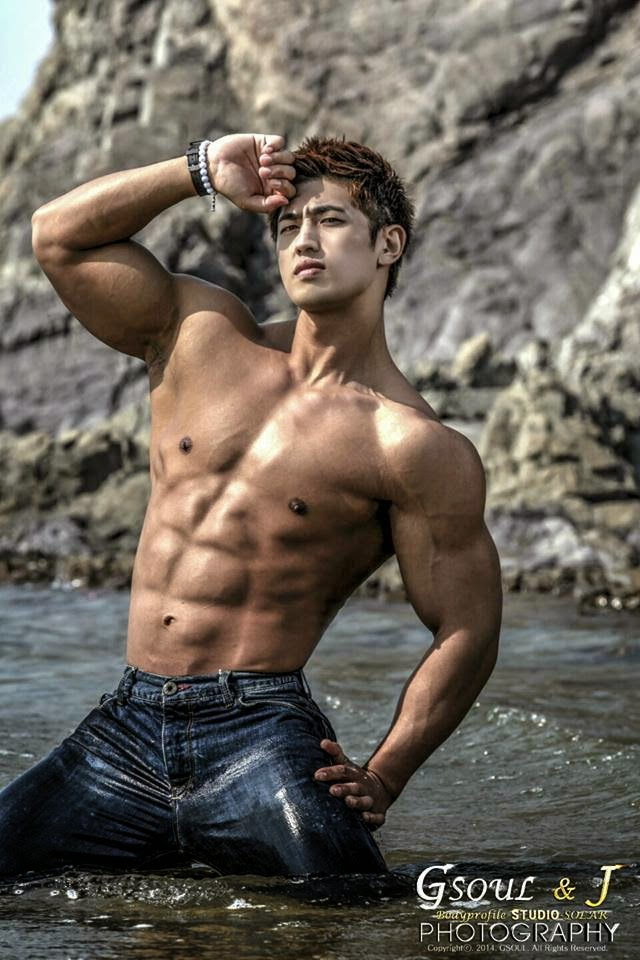 You're cute! asian man muscular