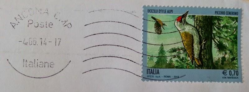 francobollo Picchio Cenerino
