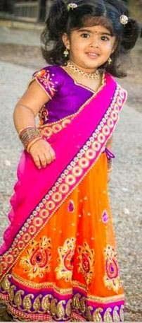 Cute baby Images-Baby Saree Photos
