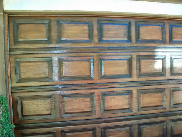 Forever moore design for Faux painting garage doors look like wood