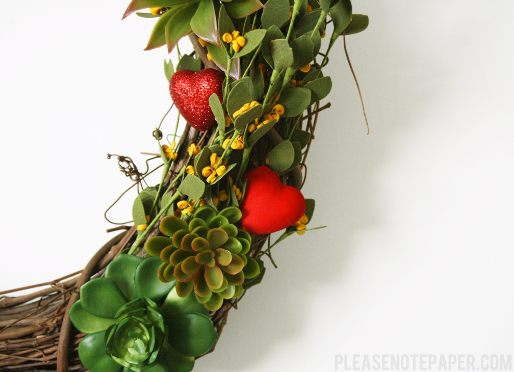 Please Note Valentine S Day Wreath