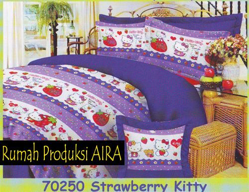 Bunda Syifa Shop Sprei Motif Strawberry Amp Bear
