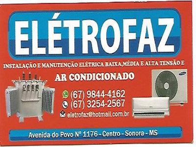 ELÉTROFAZ TUDO PARA SUA INSTALAÇÃO ELÉTRICA E MAN. DE AR CONDICIONADA