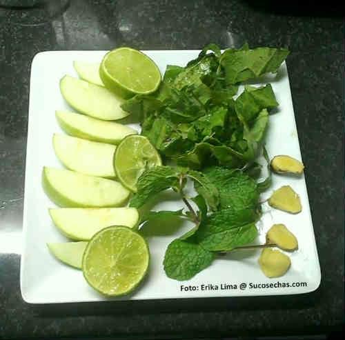 Ingredientes do suco verde detox