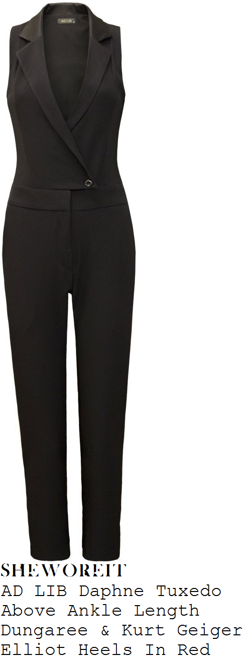Laura Whitmore's AD LIB Daphne Black Tuxedo Inspired Tailored ...