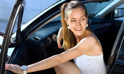 Disadvantages of Dating A Rich Girl,woman girl getting out of a car driving open car doors