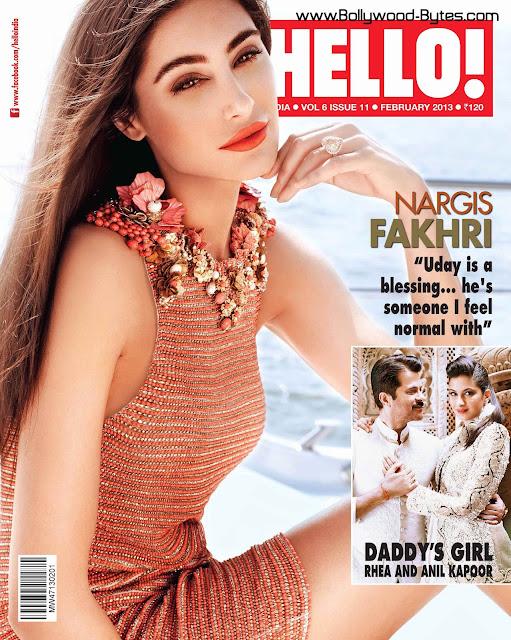 Beautiful Nargis Fakhri Cover Girl Hello