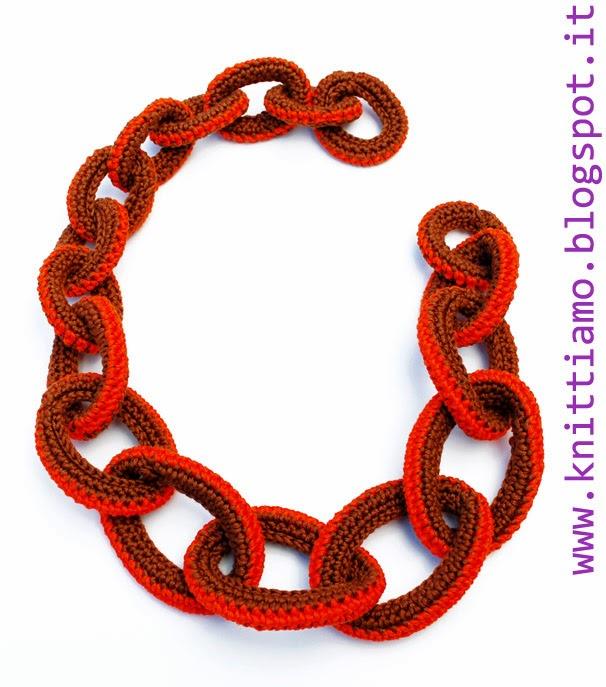 Spiegazione di come fare collana a catena