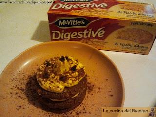 mattone al caffè con crema di burro e biscotti mcvitie's digestive ai fiocchi d'avena