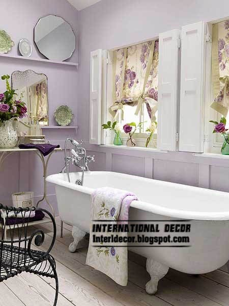stylish purple shade for bathroom window