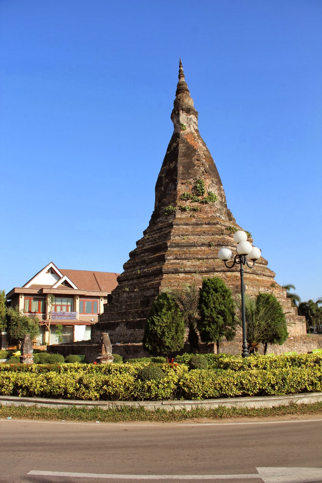 That Dam or Black Stupa in Vientiane, Laos