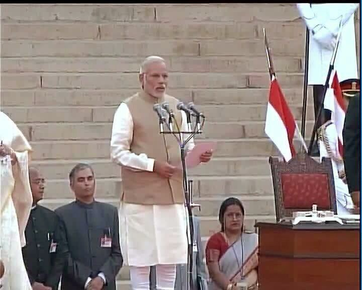 Narendra Modi takes oath as the 15th Prime Minister of India