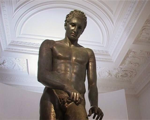 The Croatian Apoxyomenos at the Mimara Museum in Zagreb