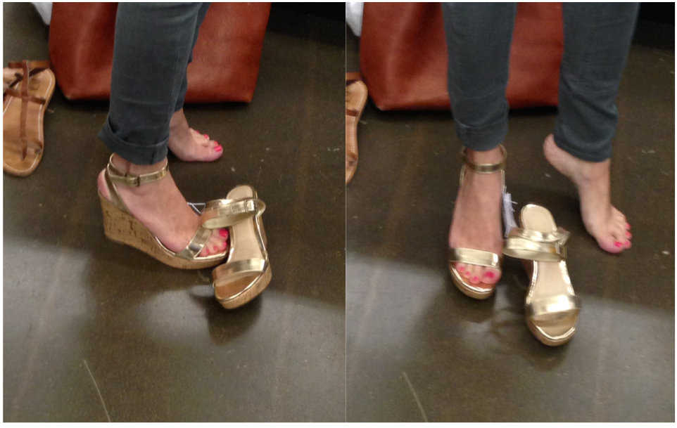 Gold Wedges, Old Navy, Savings