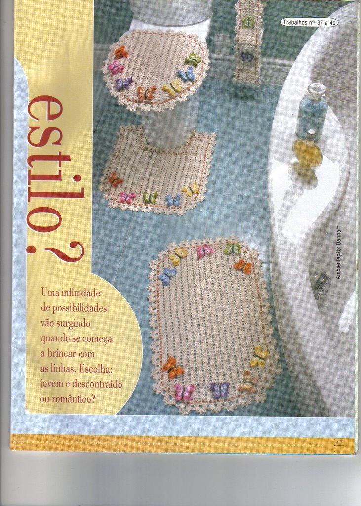 Set De Baño Tejido A Mano:Juego De Bano Crochet