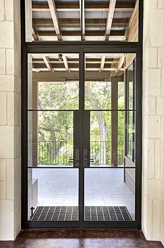 Let 39 s stay steel factory style windows doors and storefront for Black steel exterior french doors