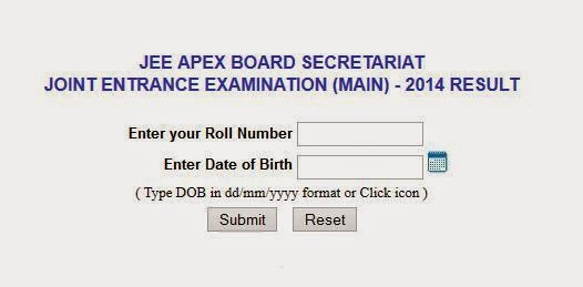 JEE Main Result 2014