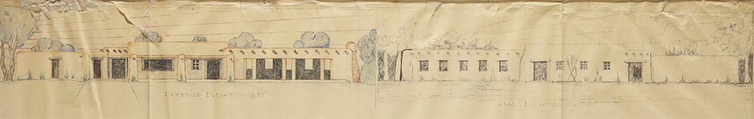 Conceptual Elevations for Concession and Bath House- May 1939