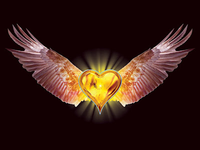 golden flying heart