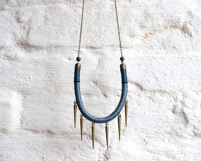 Dangle Spikes Necklace by Trincar Uvas