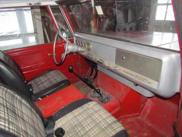 International Harvester Interior : International scout pickup cars