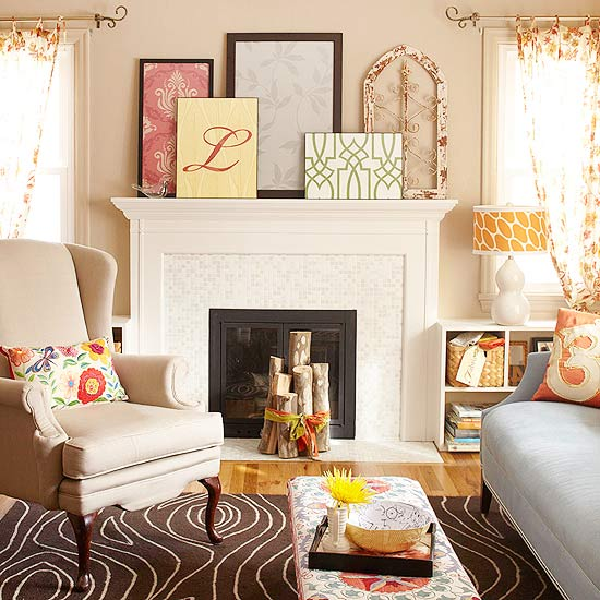 Artful Do It Yourself Projects Take This Sitting Room From Plain Jane To  Personality Packed. Wallpaper Scraps Become Graphic Pieces Of Framed Art,  ... Part 49