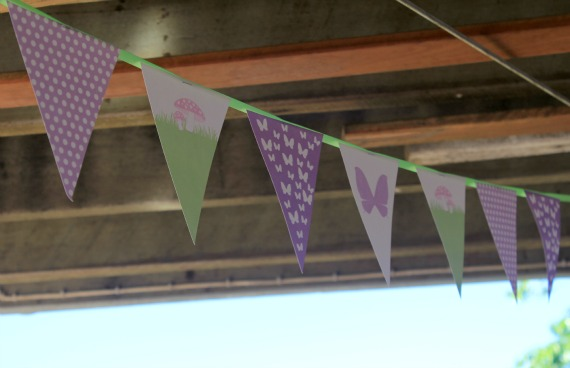 Fairy Party Bunting, Fairy Party Decoration, Purple Fairy Party, polka dot party, butterfly