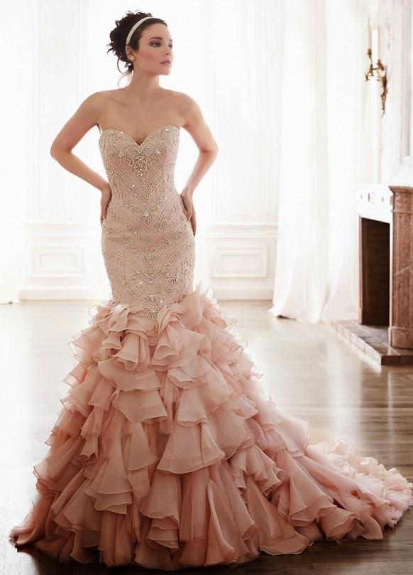 Abiti da sposa color rosa