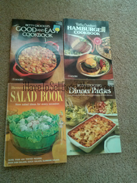 Vintage cookbooks from Betty Crocker and Better Homes