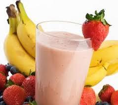 Licuado de Plátano y Fresa